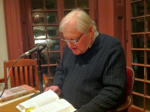 John Ashbery at Kelly Writers House 2-11-13