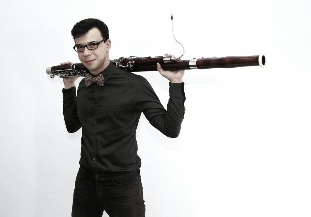 Bassoonist Dávid Adam Nagy (photograph by János Sutyák)