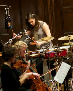 Garapic in a performance of John Mackey's Micro Concerto