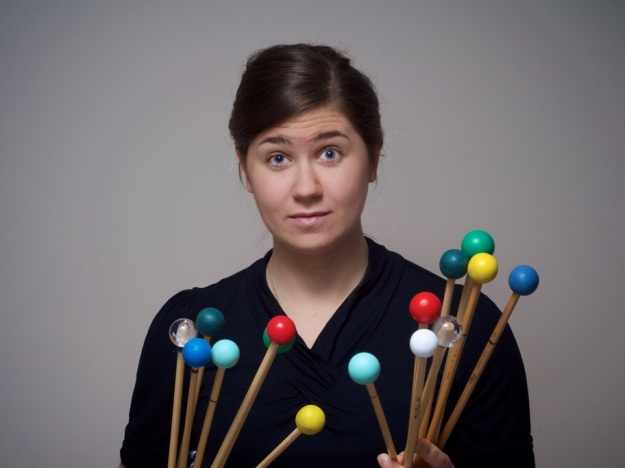 Percussionist Amy Garapic (photograph by Gordon Hayes)