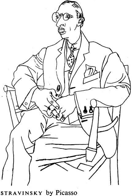 Portrait of Stravinsky by Pablo Picasso