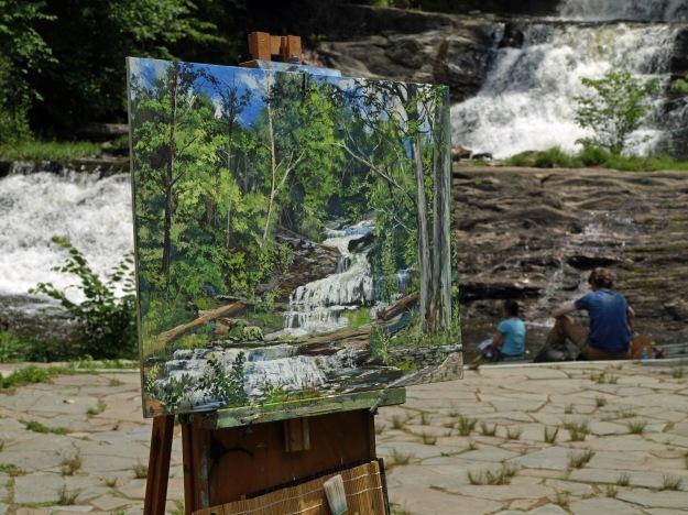 Plein Air Painting at Kent Falls