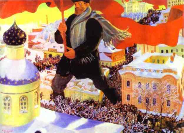 Bolshevik, by Boris Kustodiev