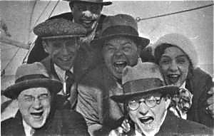 Shostakovich (lower right) at a Soccer Game, 1940s
