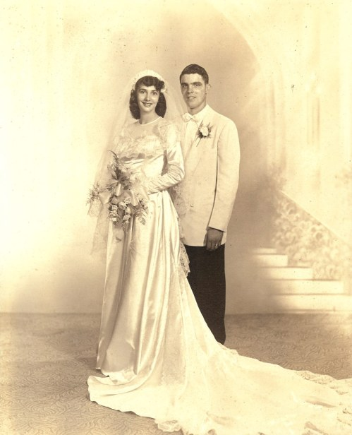 Eula and Earl, Wedding Day 1952