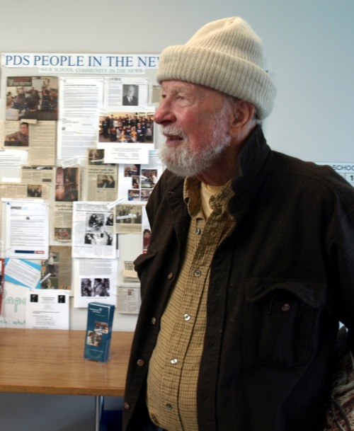 Pete Seeger, Poughkeepsie Day School, 2010 (Photograph by Josie Holford)