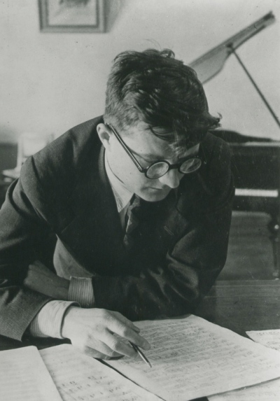 Shostakovich 1942 or 1943 (Library of Congress)