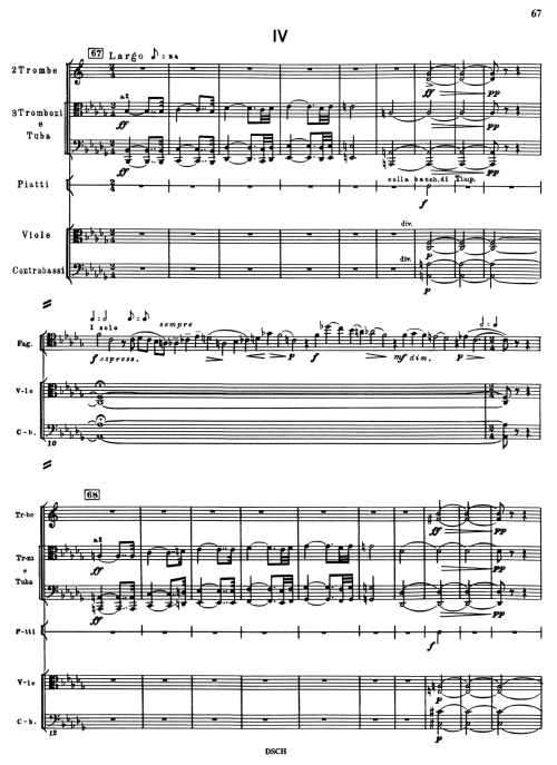 First Page of Fourth Movement