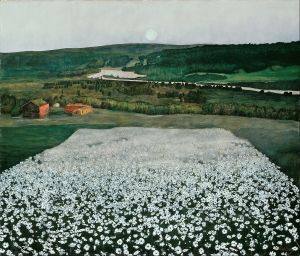 Harald Sohlberg, Flower Meadow in the North