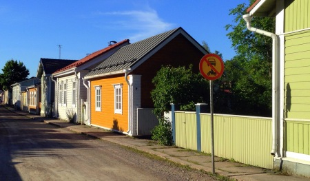 Loviisa Old Town Street (Photograph by J. Holford)