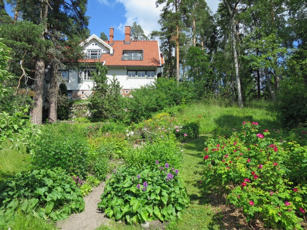 View of the house at Ainola from Aino's garden