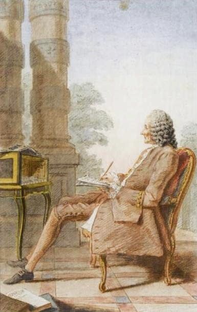 Louis Carrogis Carmontelle, watercolor of Rameau (1760)