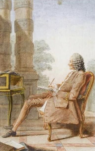 Louis Carrogis Carmontelle, watercolor of Rameau (1760)