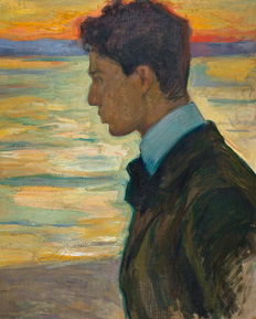 Boris beside the Baltic at Merekule, Leonid Pasternak, 1910