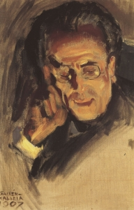 Mahler in Helsinki, painted at Hvitträsk by Akseli Gallen-Kallela (1907)