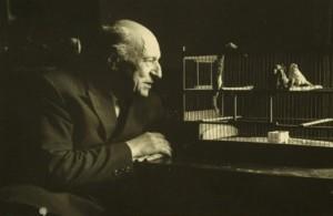 Umberto Saba and Pet Bird