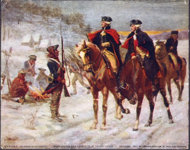 Washington and Lafayette at Valley Forge, John Ward Dunsmore (1907)