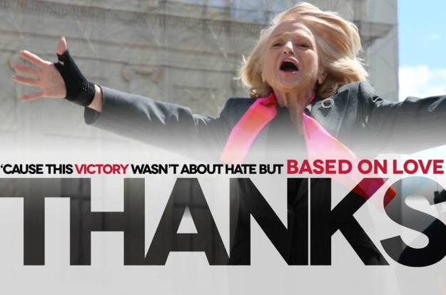 Edie Windsor, the plaintiff in U. S. v. Windsor (credit unknown)