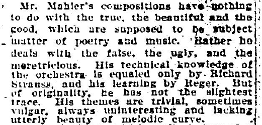 Mahler V Examiner Review Excerpt 3-23-1907