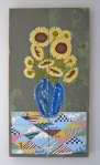Sunflowers on Biscuit Factory salvaged wood (Susan Sylvester DiGilio)