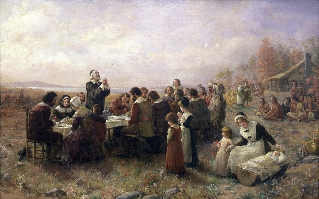 Jennie A. Brownscombe, The First Thanksgiving at Plymouth (1914)
