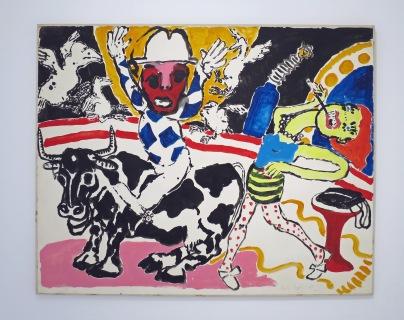 Paula Rego, Homage to Dubuffet (1985)