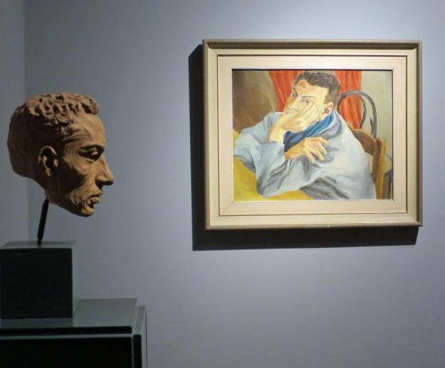 Nino Franchina, Ritratto di Guttuso (1935), Renato Guttuso, Autoritratto (1936)